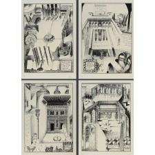 perez villalta, visita alhambra, carpeta serigrafia