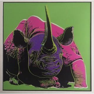 warhol, black rhinoceros, silkscreen