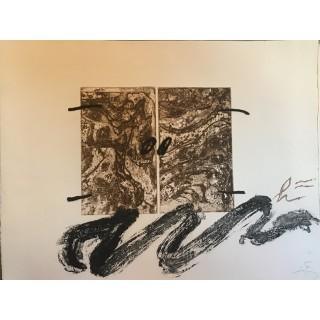 tapies, serp, grabado, firmado