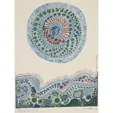 juan romero, cereza azul, serigrafia