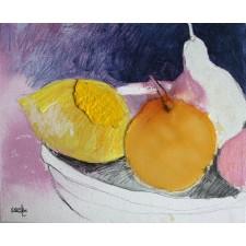 bodegón, naranja, collage