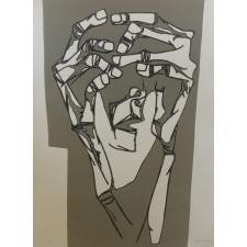 guayasamin, grabado, las manos del terror